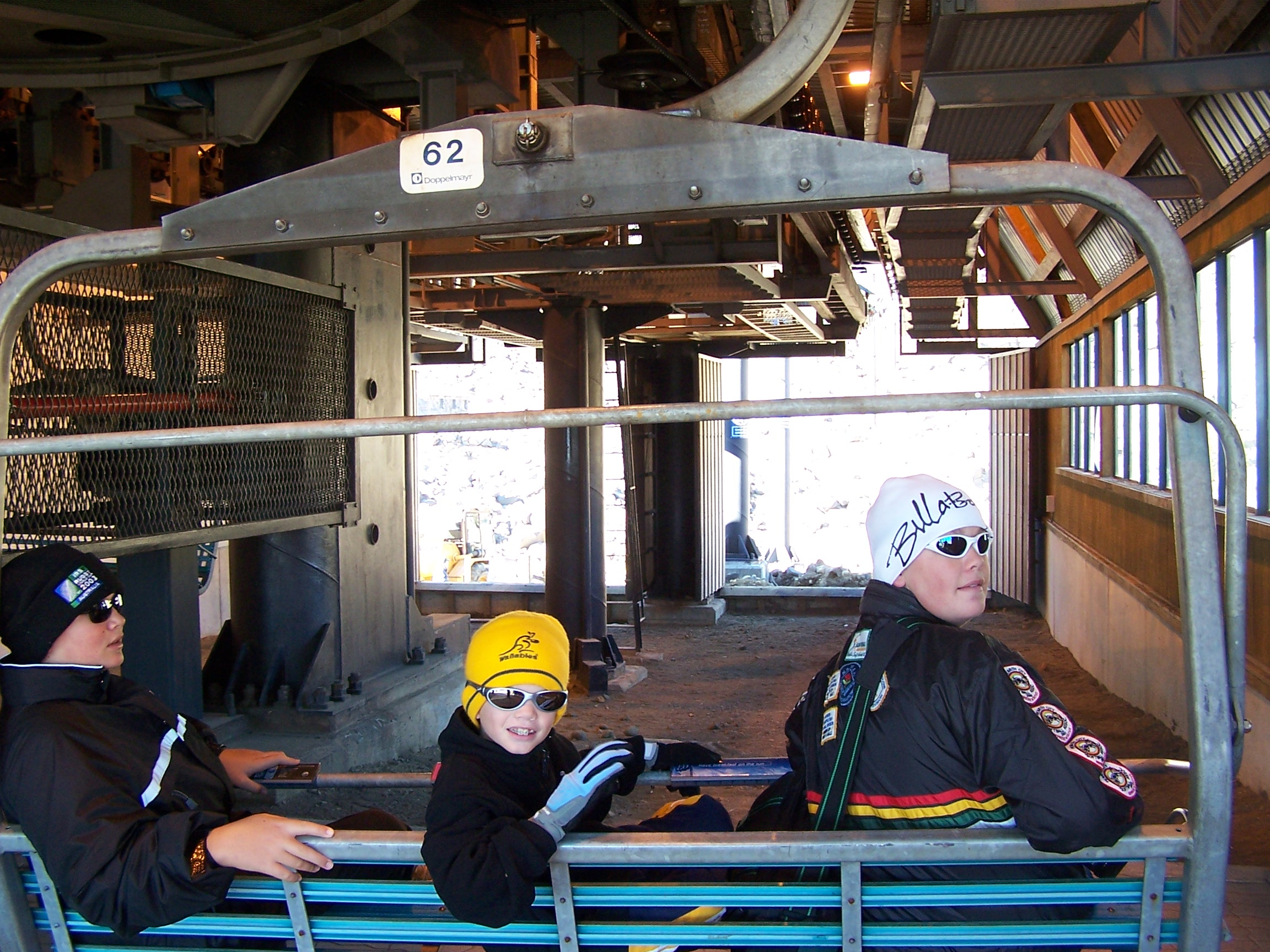 Mt Ruapehu Chair Lift - my sons - Photo Gallery Auckland Rotorua