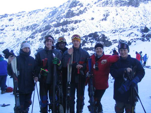 Mt Ruapehu Ski Group - my son and friends - Photo Gallery Auckland Rotorua