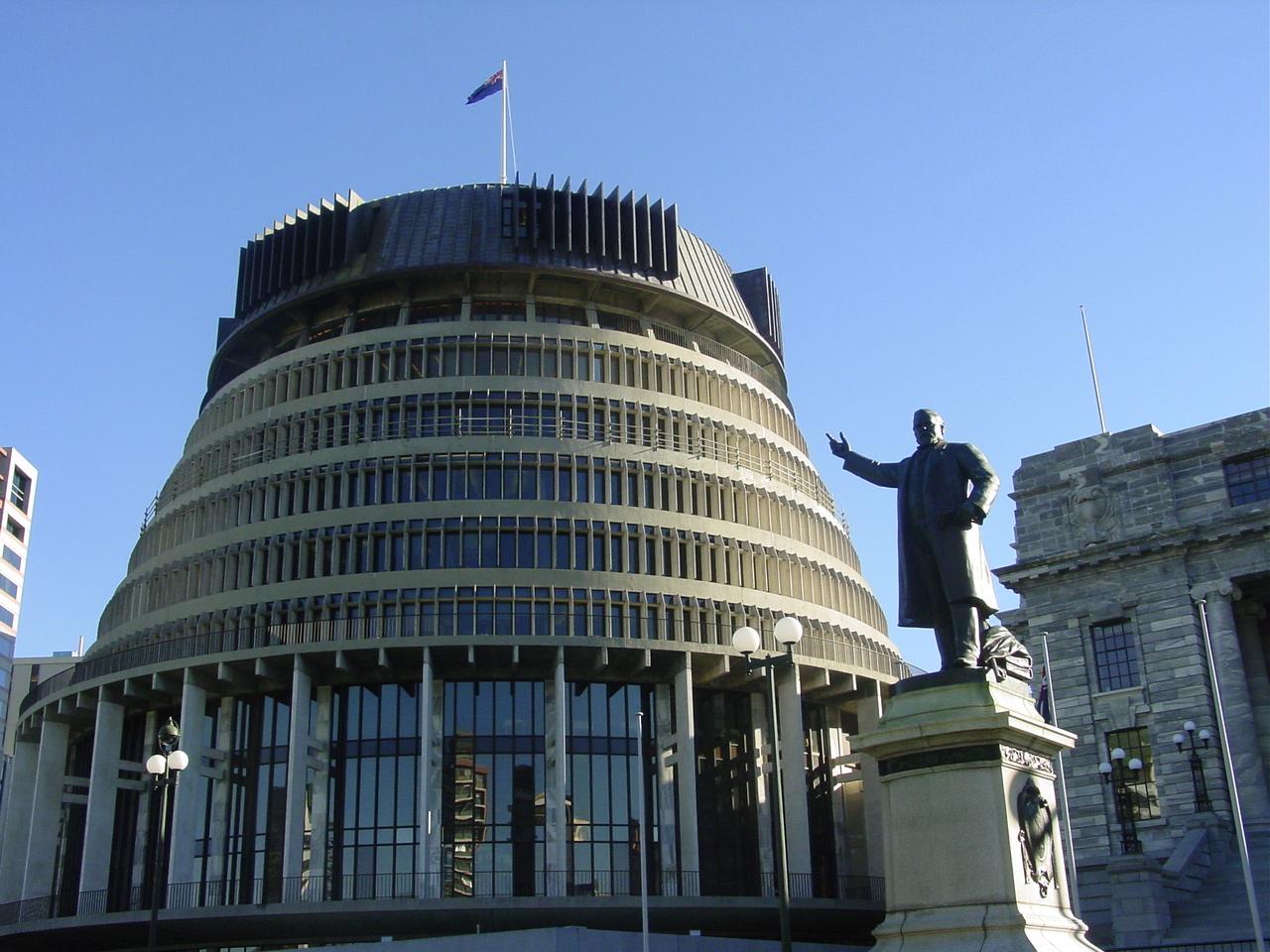 Wellington Beehive - Photo Gallery Auckland Rotorua